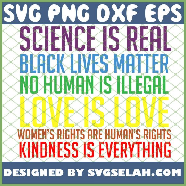 Science Is Real Black Lives Matter Gay Pride Rainbow Flag Lgbt Love Funny Perfect SVG PNG DXF EPS 1