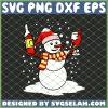 Snowman And Red Wine Christmas SVG PNG DXF EPS 1