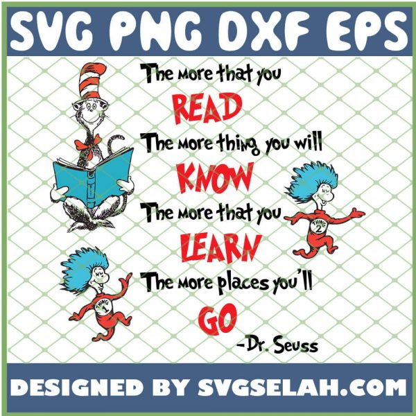 The More That You Read The More Thing You Will Know SVG PNG DXF EPS 1