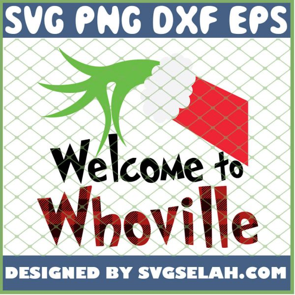 Welcome To Whoville Plaid SVG PNG DXF EPS 1