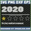 2020 One Star Rating Very Bad Would Not Recommend SVG PNG DXF EPS 1