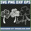 3 Leaf Clover SVG Shamrock Outline SVG Lucky Shamrock SVG PNG DXF EPS 1