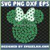 4 Leaf Clover Outline SVG Minnine With Bow Disney Shamrock SVG PNG DXF EPS 1
