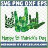 Asl Sign Language Buffalo Plaid St PatrickS Day SVG PNG DXF EPS 1