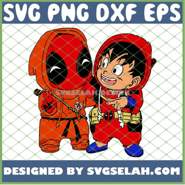 Baby Deadpool And Son Goku Costume SVG PNG DXF EPS 1