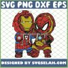 Baby Iron Man And Spiderman Costume SVG PNG DXF EPS 1