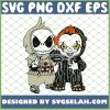 Baby Jack Skellington And Pennywise Shirt Happy Halloween Costume SVG PNG DXF EPS 1