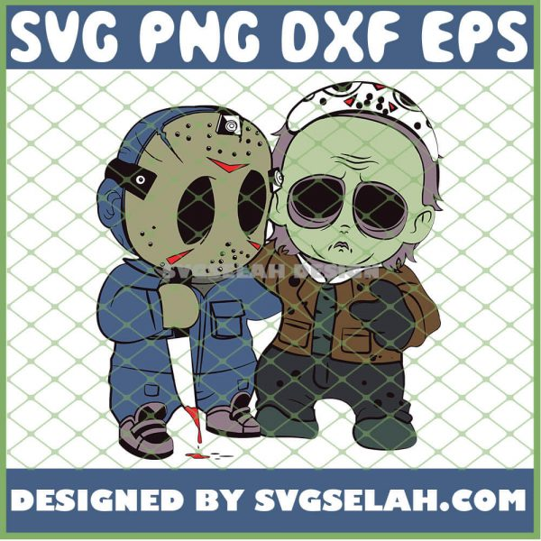 Baby Jason Voorhees And Michael Myers Halloween Costume SVG PNG DXF EPS 1