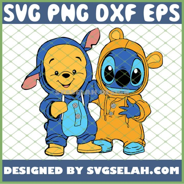 Baby Pooh And Stitch Costume SVG PNG DXF EPS 1