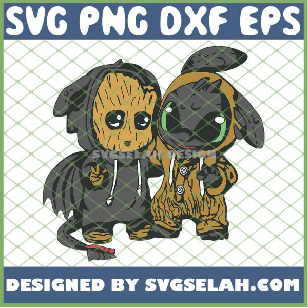 Baby Toothless And Groot Costume SVG PNG DXF EPS 1
