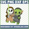 Baby Yoda And Baby Jack Skellington Costume SVG PNG DXF EPS 1
