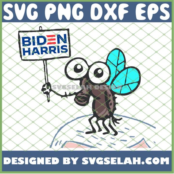 Biden Harris Flies Funny 2020 Flying Mike Pence Hair Voting SVG PNG DXF EPS 1