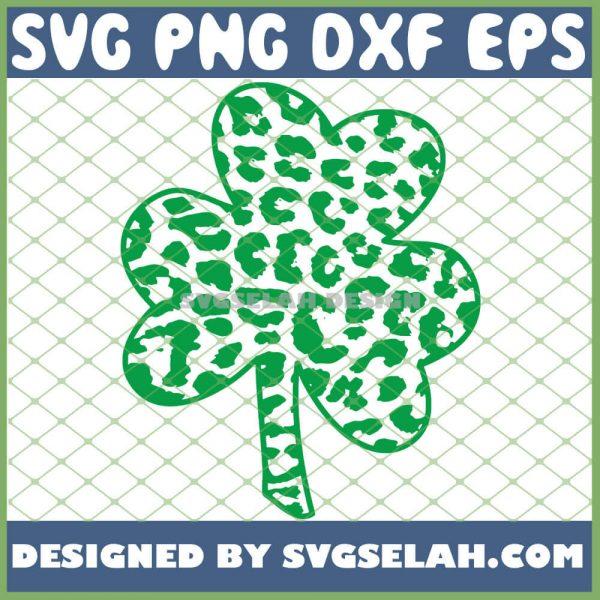 Cheetah Animal Print Shamrock St Patricks Day SVG PNG DXF EPS 1