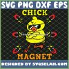 Cool Easter Chick Magnet SVG PNG DXF EPS 1