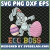Dabbing Bunny Egg Boss Easter Kids Toddlers SVG PNG DXF EPS 1