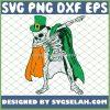 Dabbing Skeleton Irish Shamrock St Patricks Day SVG PNG DXF EPS 1