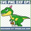 Dinosaur With Bunny Easter Eggs SVG PNG DXF EPS 1