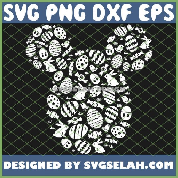 Disney Mickey Mouse Icon White Bunnies Easter SVG PNG DXF EPS 1