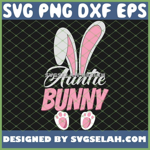 Easter Bunny Auntie Rabbit Cute Family SVG PNG DXF EPS 1