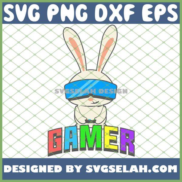 Easter Bunny Gamer Boy SVG PNG DXF EPS 1