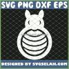 Easter Bunny Monogram Egg SVG PNG DXF EPS 1