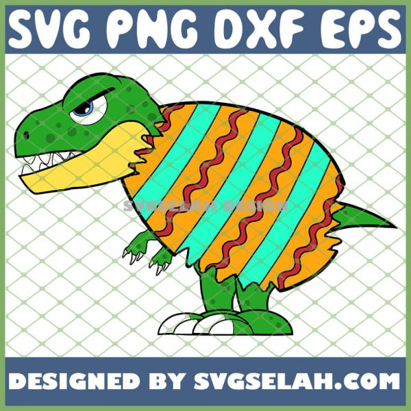 Easter Dinosaur Dino Hatching From Easter Egg SVG PNG DXF EPS 1