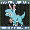 Easter Dinosaur T Rex Egg Hunt Is On Funny SVG PNG DXF EPS 1