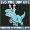 Easter Dinosaur T Rex Egg Hunt Is On Funny SVG PNG DXF EPS 1