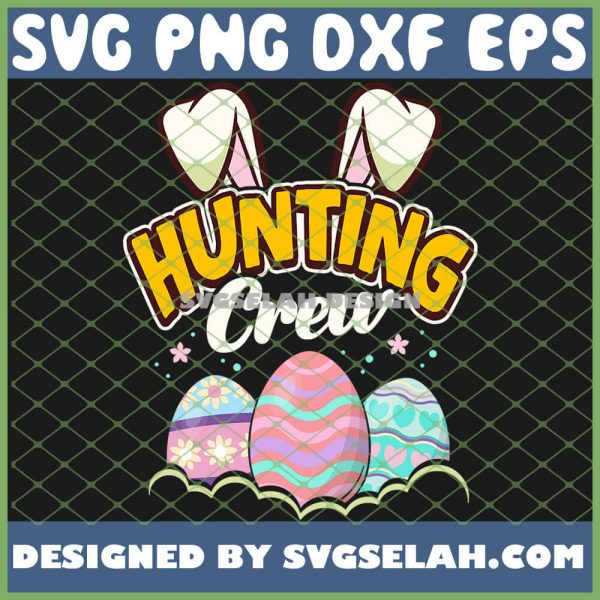 Easter Egg Hunting Crew Bunny SVG PNG DXF EPS 1