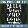 Easter Funny Bunny Kisses And Easter Wishes SVG PNG DXF EPS 1