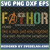 Fathor Noun Like A Dad Just Way Mightier FatherS Day SVG PNG DXF EPS 1