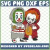 Friends Baby Joker And Pennywise It Halloween Horror Funny Costume SVG PNG DXF EPS 1