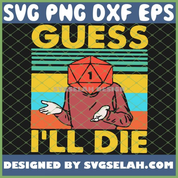 Game Guess Ill Die Vintage SVG PNG DXF EPS 1