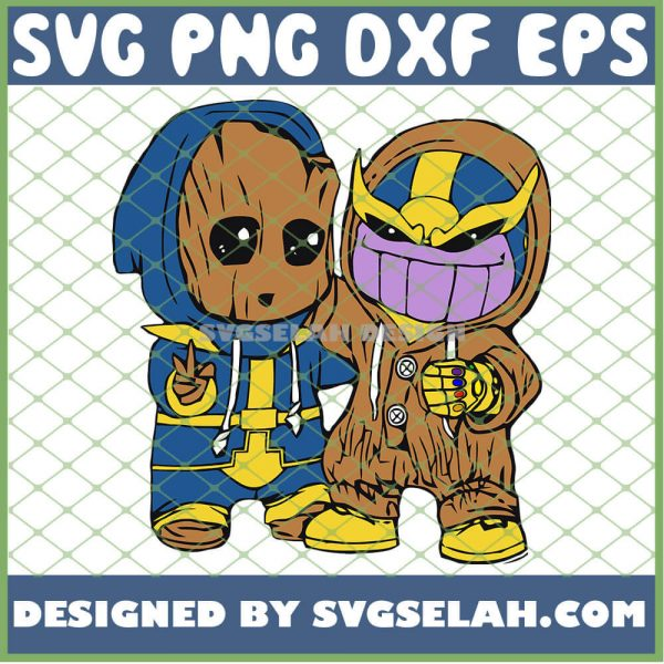 Groot And Baby Thanos Costume SVG PNG DXF EPS 1