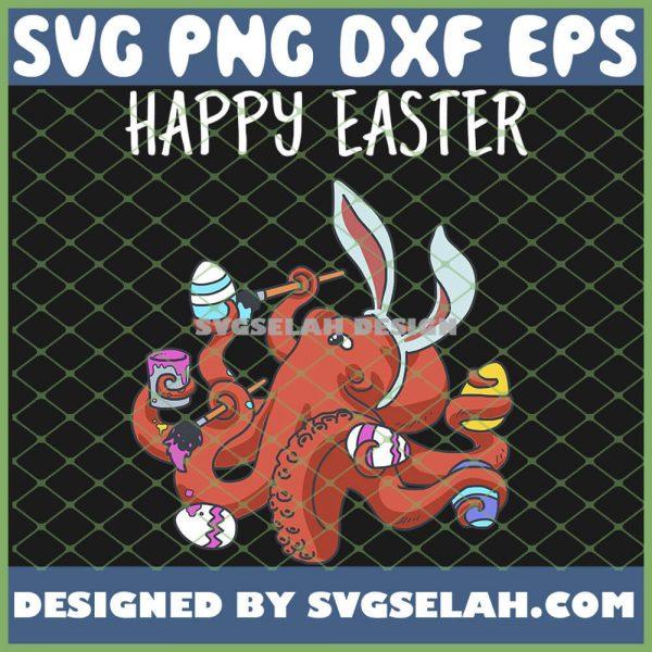 Happy Easter Egg Hunt Prizes Octopus SVG PNG DXF EPS 1