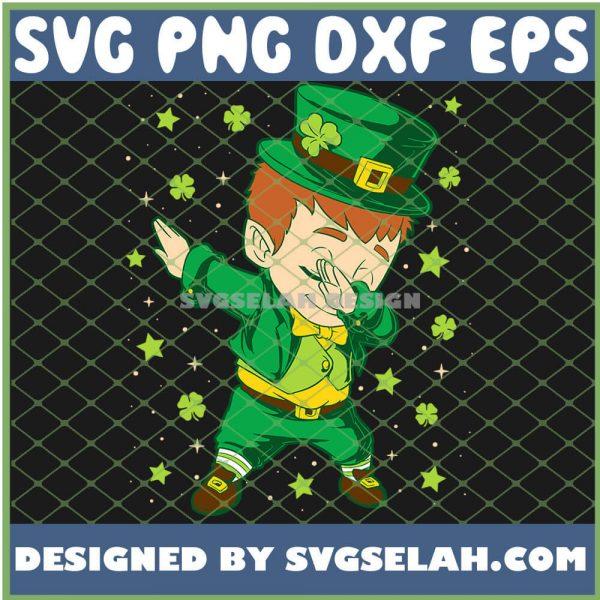 Kid Boy In The Star Rain St Patricks Day Dabbing Leprechaun SVG PNG DXF EPS 1