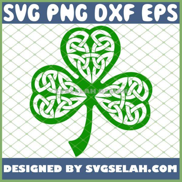 Leaf Clover Celtic Knot Shamrock SVG PNG DXF EPS 1