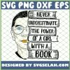 Ruth Bader Ginsburg Rbg Never Underestimate The Power Of A Girl With A Book SVG PNG DXF EPS 1