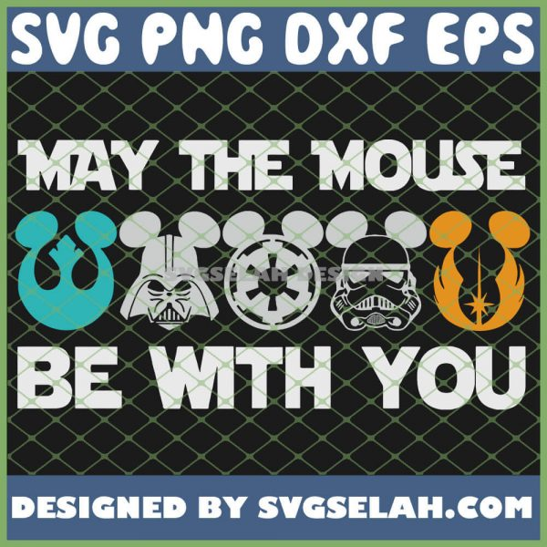 Starwar Disney Mickey May The Mouse Be With You SVG PNG DXF EPS 1