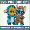 Stitch And Baby Groot Costume SVG PNG DXF EPS 1