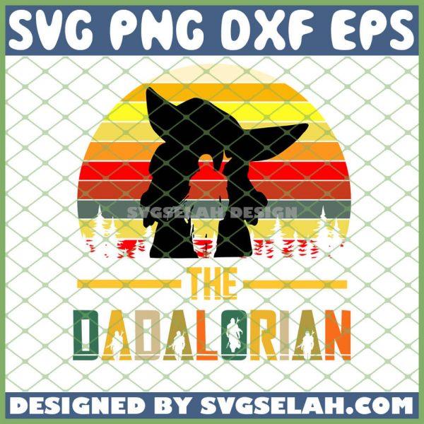 The Dadalorian Baby Yoda Mandalorian Vintage SVG PNG DXF EPS 1