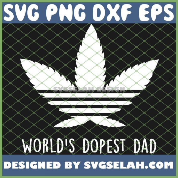 WorldS Dopest Dad Adidas SVG PNG DXF EPS 1