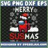 Merry Sus Mas Among Us Game SVG Santa Among Us In Snow Storm SVG PNG DXF EPS 1