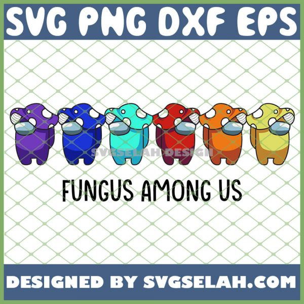 Mushroom Dwarf Among Us SVG Fungus Among Us SVG PNG DXF EPS 1