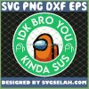 Orange Among Us Starbuck Logo Idk Bro You Kinda Sus SVG PNG DXF EPS 1