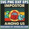 Red Blue Green Among Us Shhh Impostor Vintage SVG PNG DXF EPS 1
