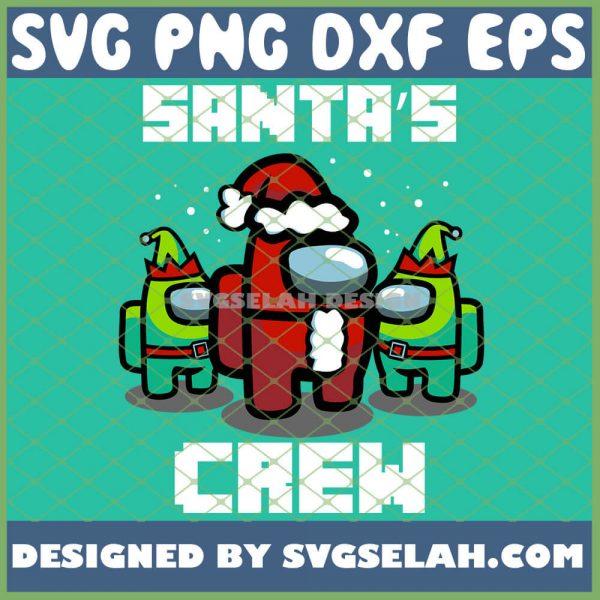 Santas Crew SVG Christmas Among Us SVG Among Us Santa SVG PNG DXF EPS 1