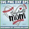 Baseball Mom Heart Svg Baseball Mom Shirt Svg Sport Mom Svg 1