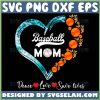Baseball Mom Heart Svg Peace Love Save Lives Distressed Baseball Mom Svg Files 1