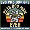 Best Dog Mom Svg Vintage Paw Print Mandala Svg 1